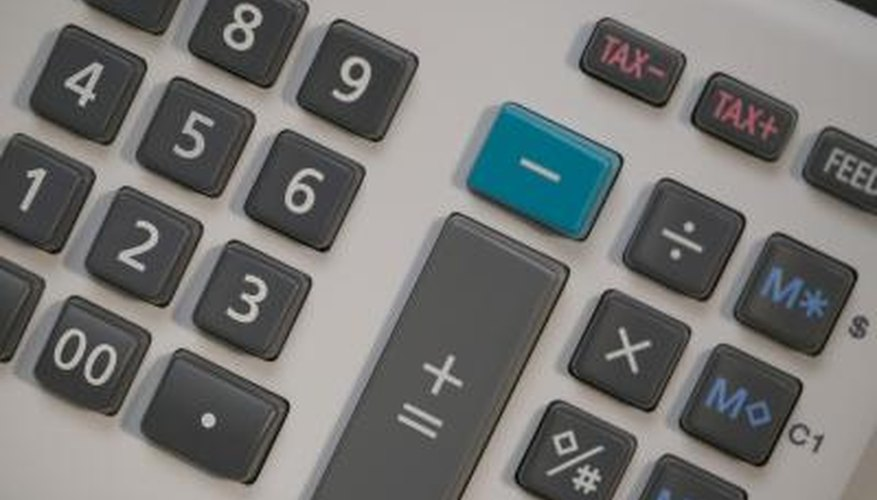 Calculator keys close up.