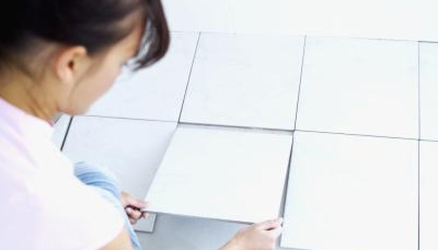 Tile spacers can be left in place under certain conditions.