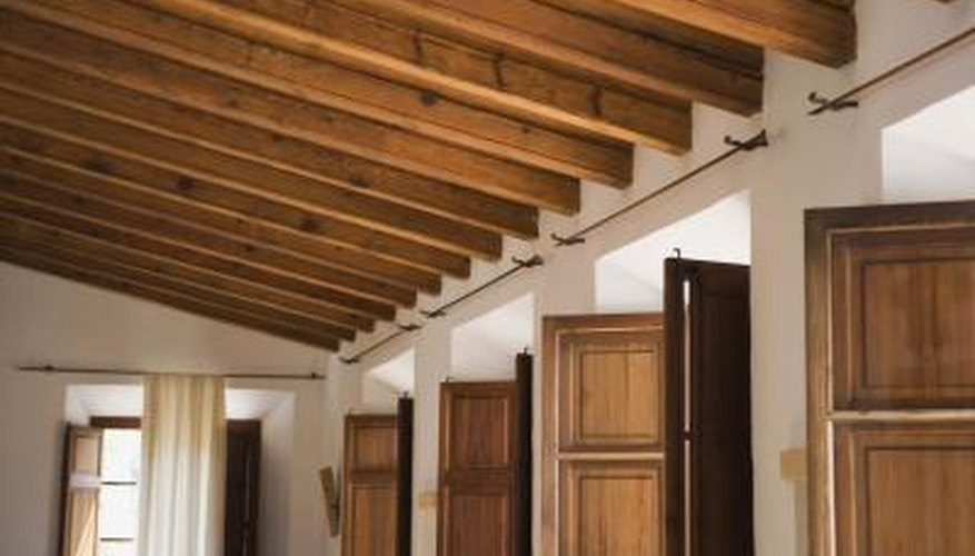 Wooden ceilings add a rustic appearance to modern homes.