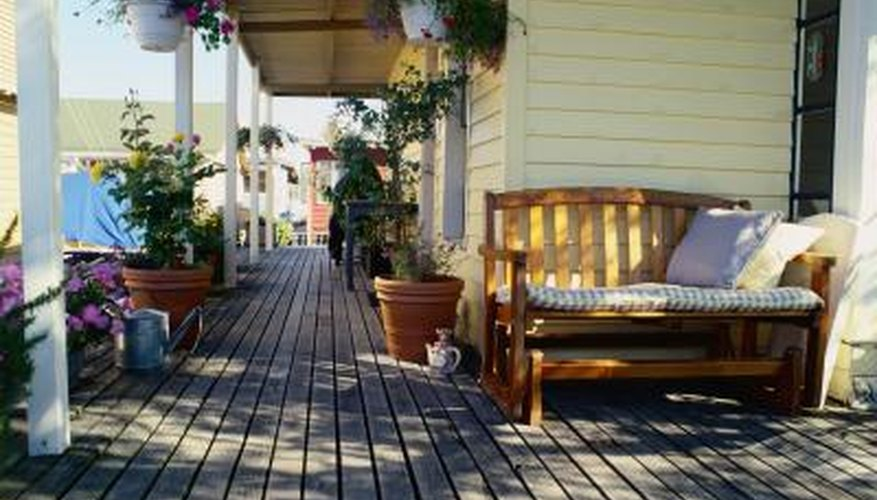 The ground beneath your deck should slope away from the house.