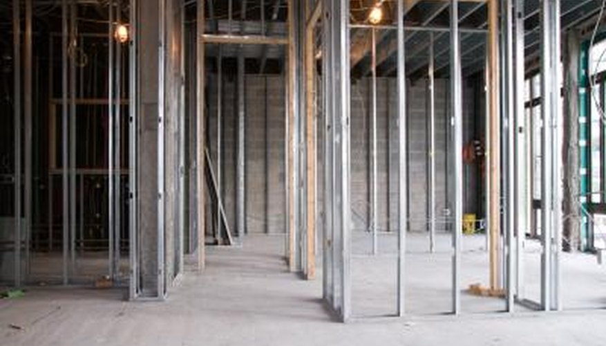 like wood stud walls metal stud walls consist of upright framing members joined at the - Metal Studs Framing