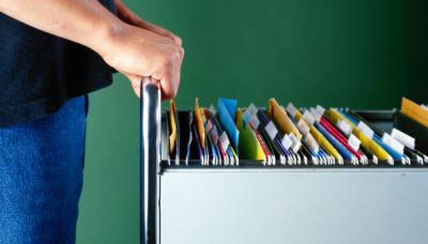 Filing cabinets make a strong foundation for a desk