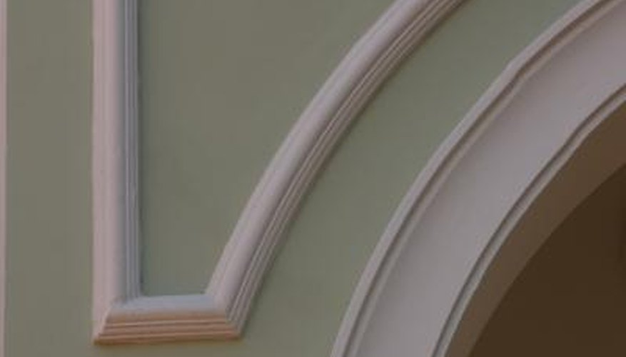 Trim molding no longer has to be custom carved into a curve.