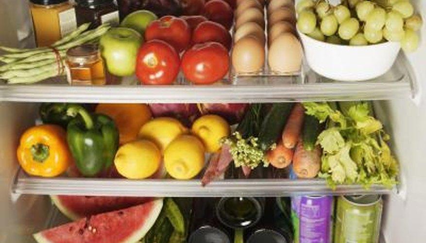 Inside of refrigerator.