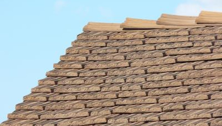 Synthetic roof tiles.