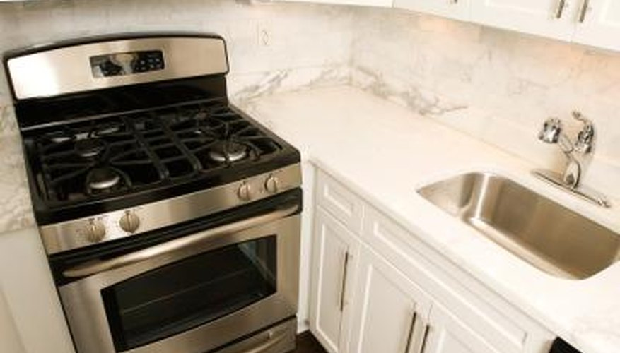 Inexpensive kitchen cabinets are often constructed from particle board,