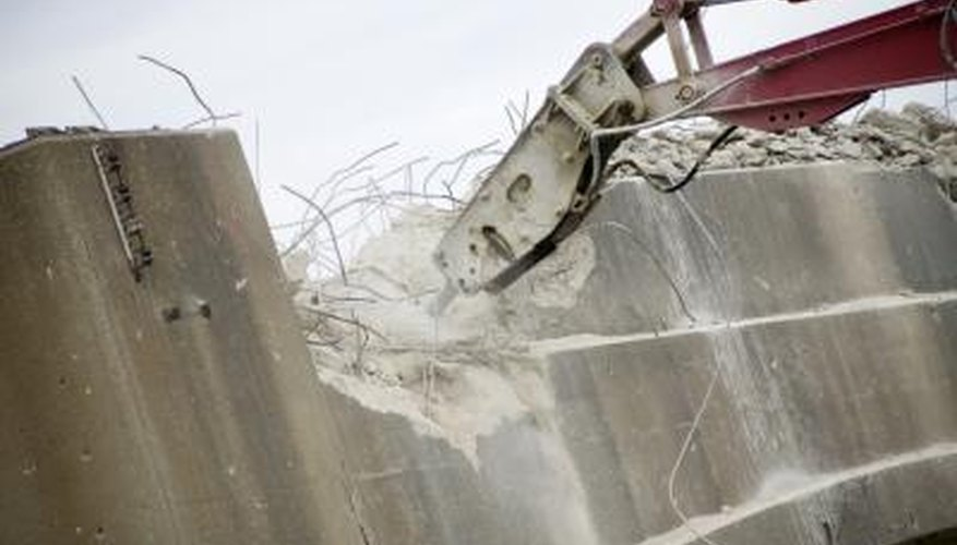 Concrete demolition requires the calculation of crushed concrete.