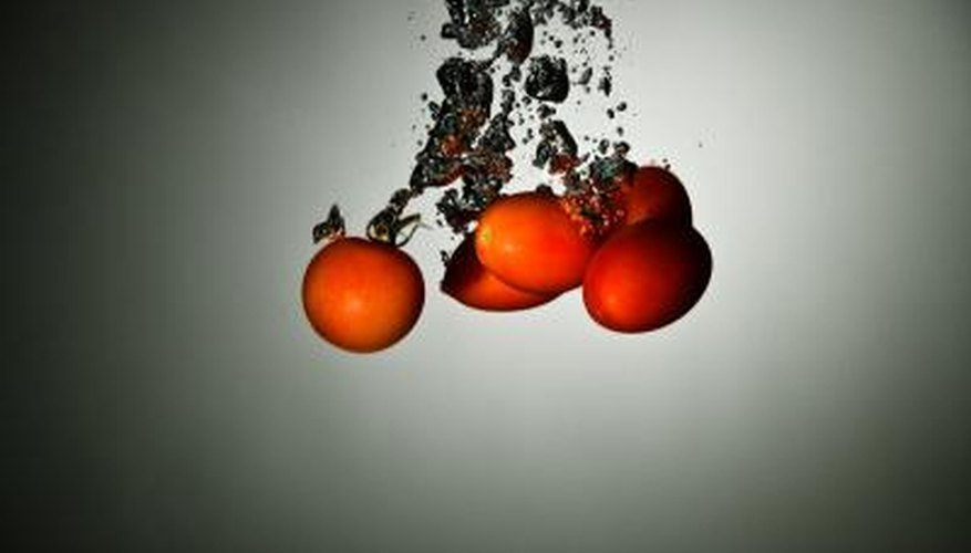 Tomatoes are one type of vegetable that is more dense than water, so they sink instead of float.