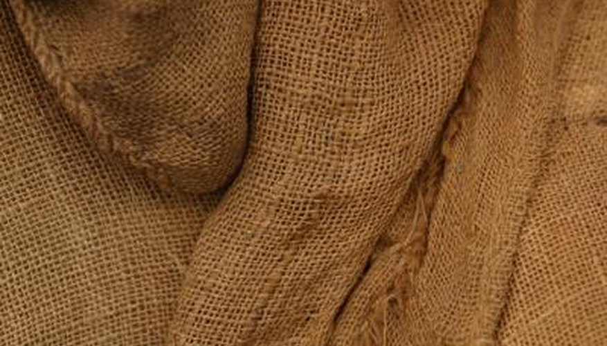 Affix burlap to your walls for a rustic look.