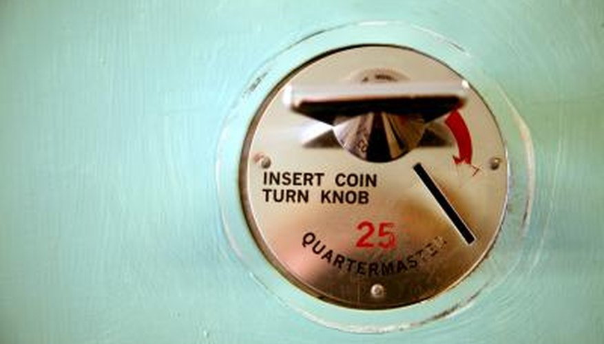 A stuck coin can completely disrupt a washing machine.
