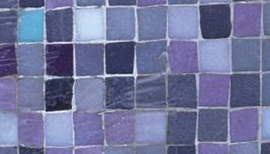 Glass tiles are often used in mosaics.