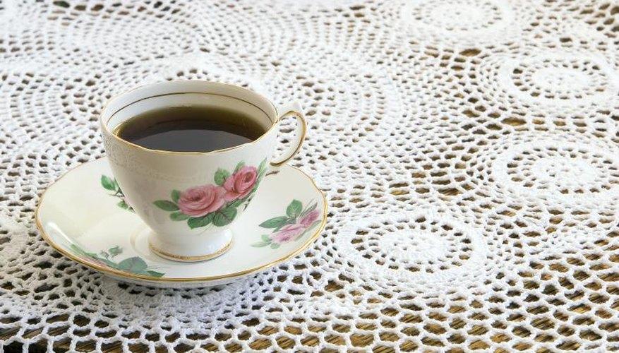 Vintage lace tablecloth.