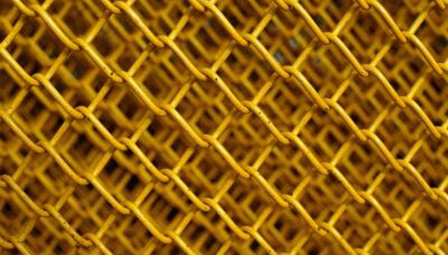 Vinyl chain link fences come in colors.