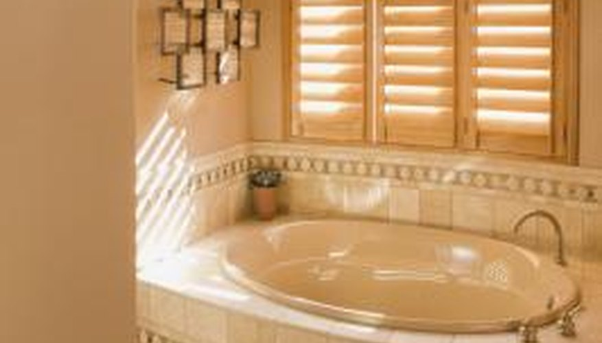 Neutral colors are the perferred choice for spa-style bathrooms.