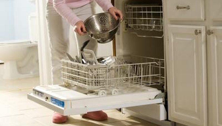 Food particles can clog your dishwasher's filter, preventing proper draining.