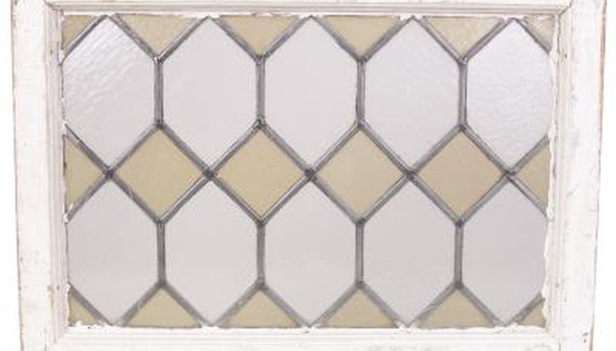 Tudor-style diamond-pane window patterns can be applied to standard windows.