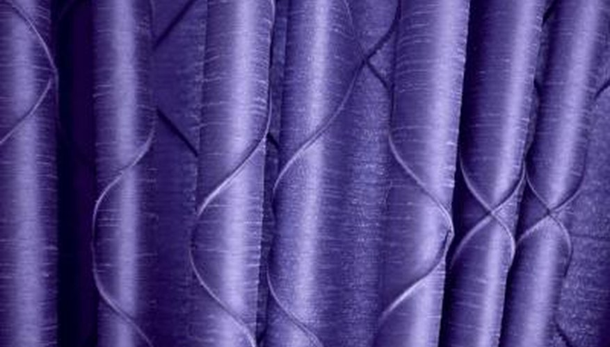 Pinch-pleat drapes should hang in smooth, rounded folds.
