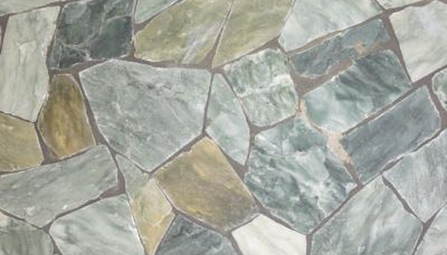 Flagstone enhances the look of the landscape.