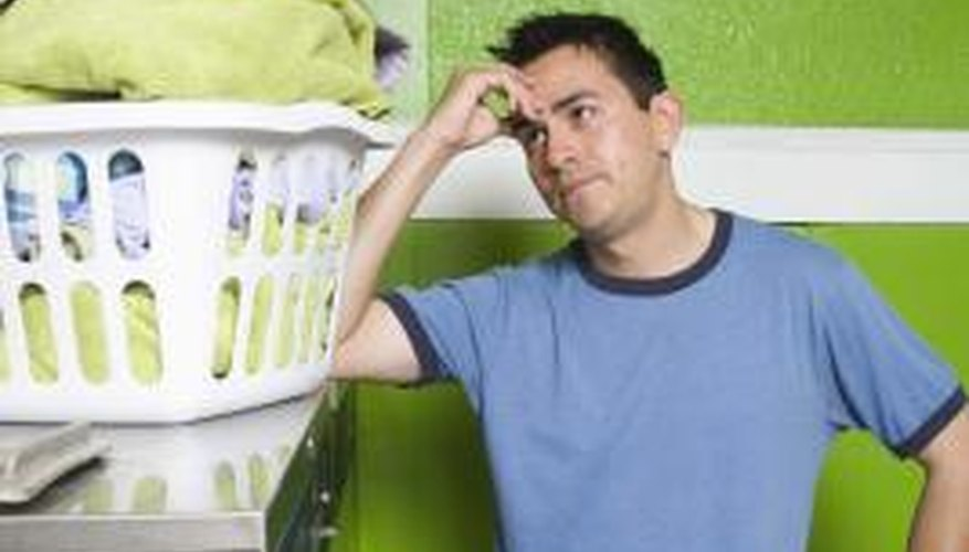 If your dryer isn't drying your clothes, try emptying the lint trap.