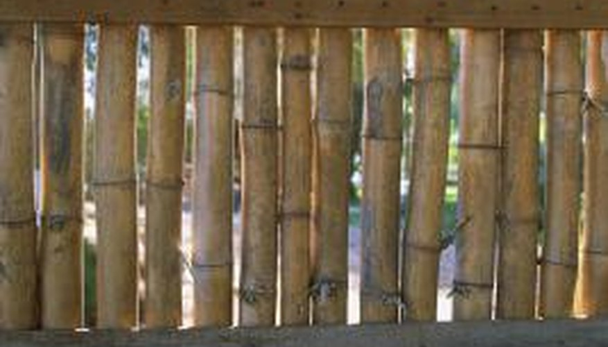 standalone bamboo pole or reed fencing needs some basic support