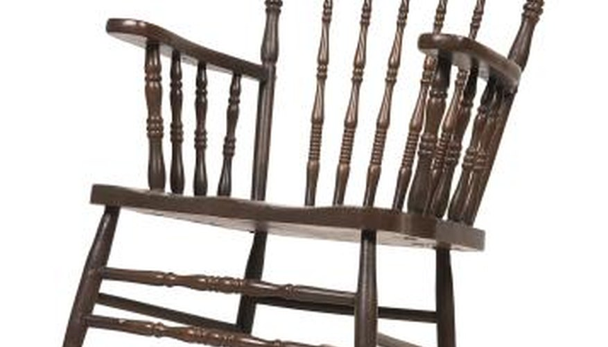 Use a rocking chair you like as the basis of your design.