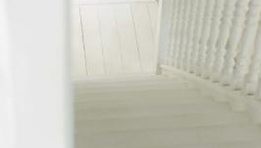 Banisters need durable paint that can stand up to dirt, fingerprints and body oils.