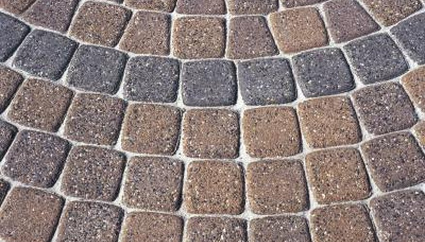 Bricks make good paving materials.