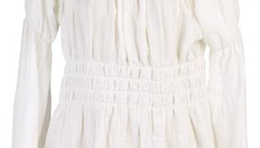 Smocking can be found on clothing, including blouses, dresses and nightgowns.