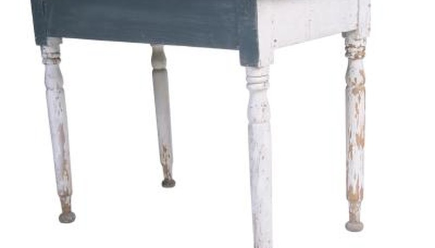 Follow careful steps when you paint furniture.