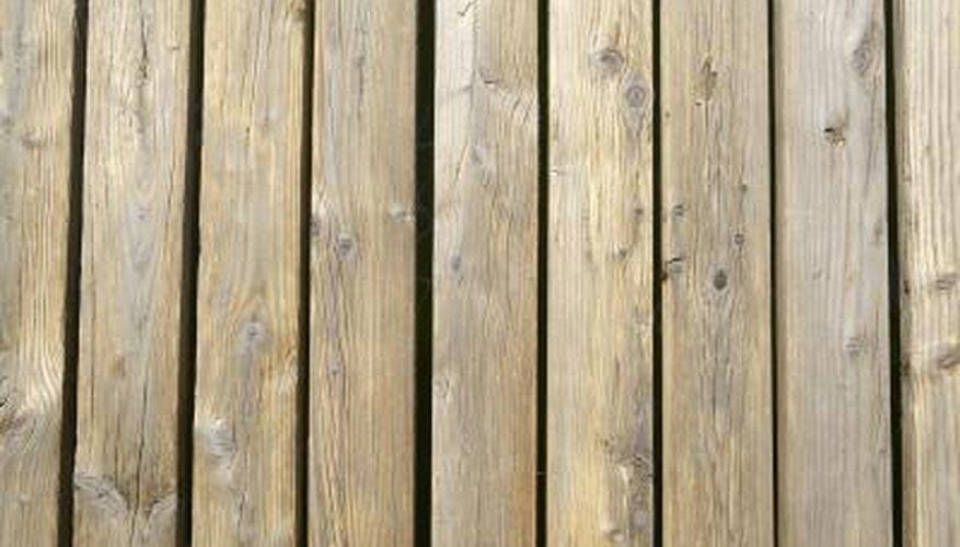 Quarter-inch spacing allows rainwater to fall through a deck easily.