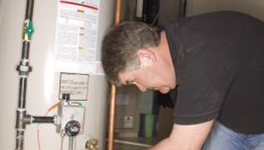 It's important to make sure the gas valve is fully open on hot water heater lines.