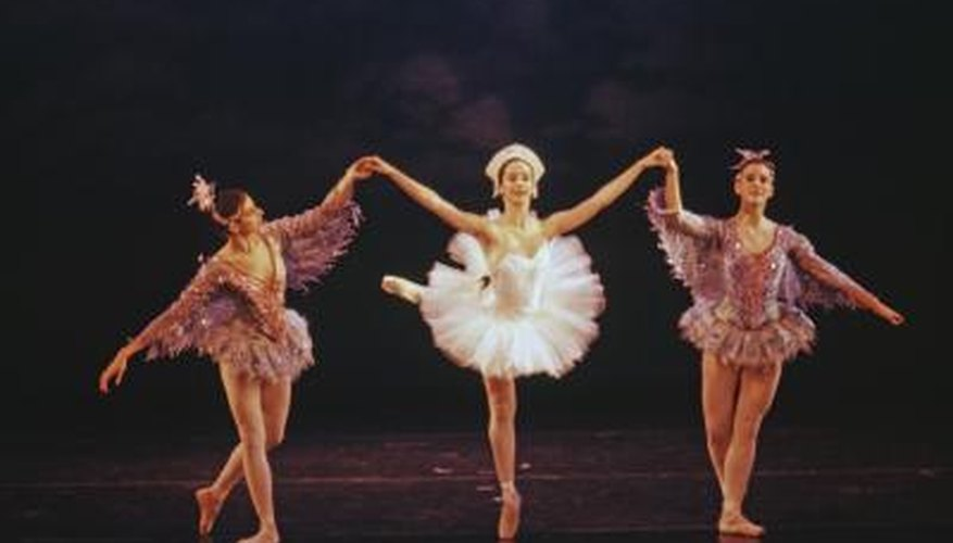 Clear view of ballerinas on stage.