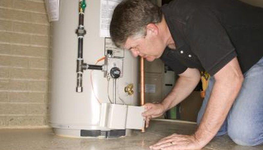 Flush the hot water tank annually as part of regular maintenance.