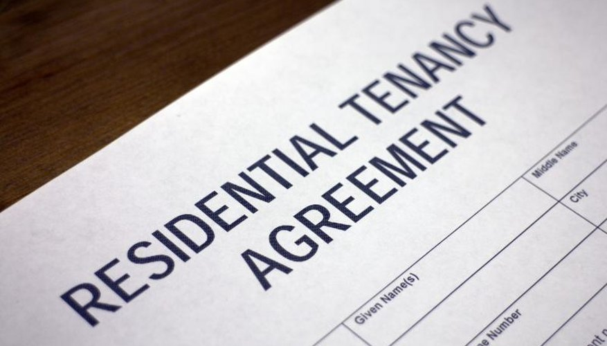 A rental agreement on the table.