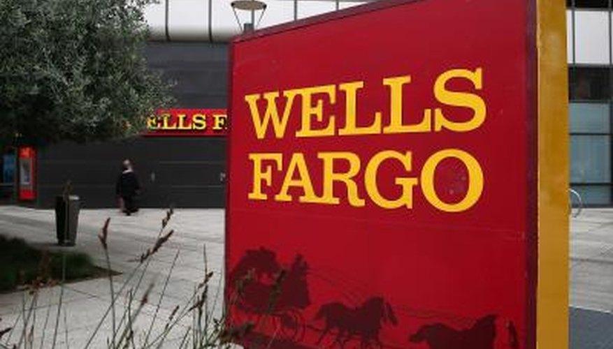 Exterior of a Wells Fargo bank branch