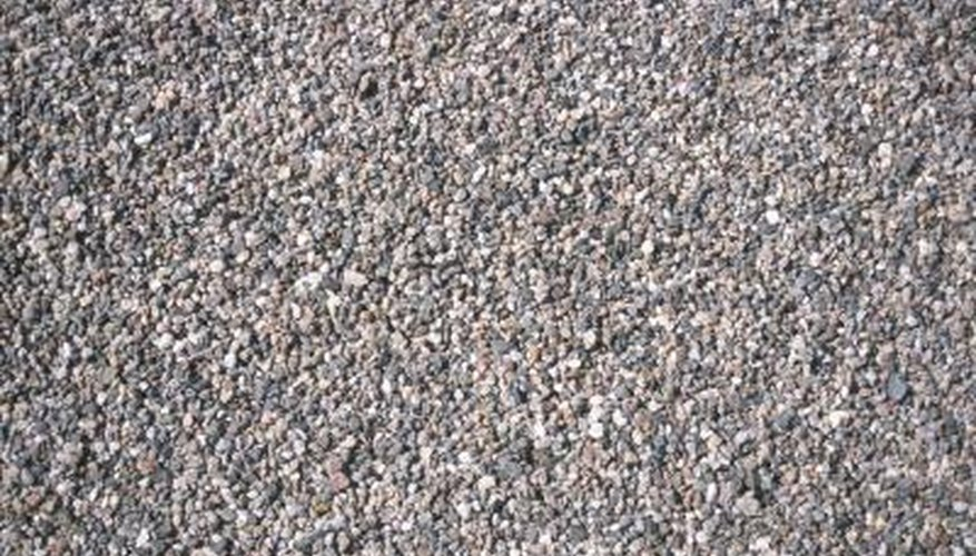 Pea gravel is an alternative to asphalt or concrete driveways.