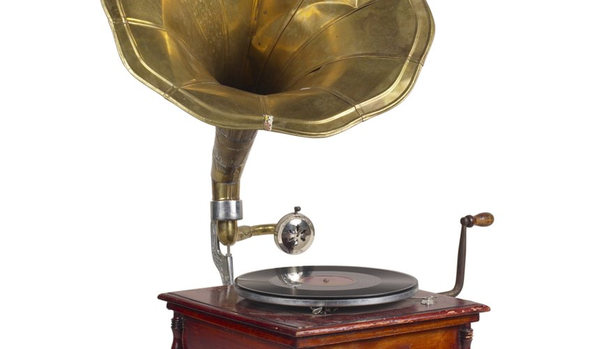 A phonograph horn has a conical shape.
