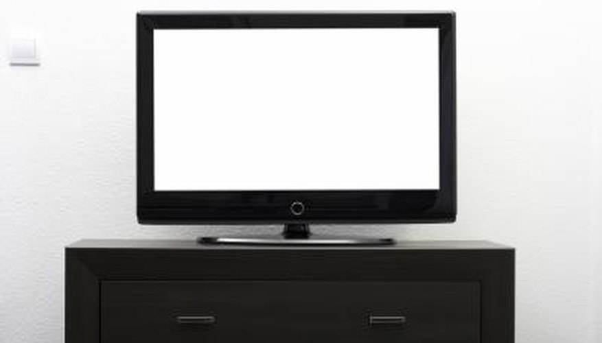 Paint the stand contemporary high-gloss black to match the TV.