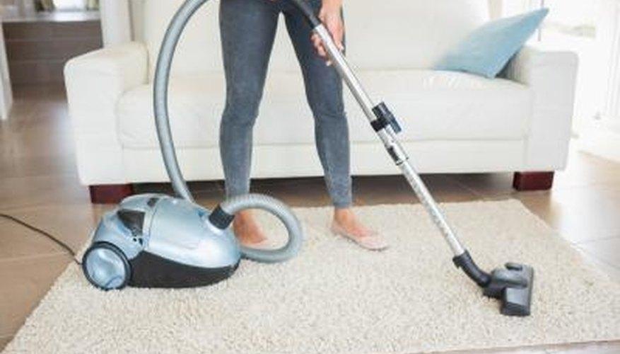 Vacuuming home.
