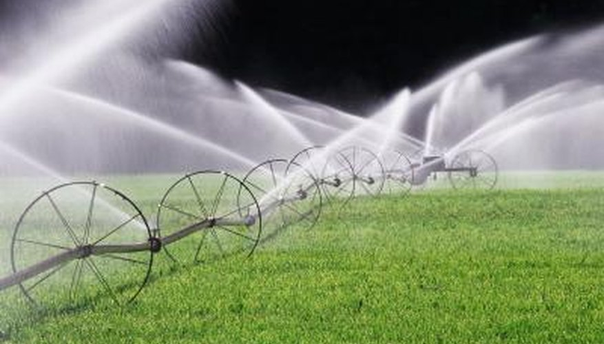 Lawn irrigation systems are powered by centrifugal pumps.