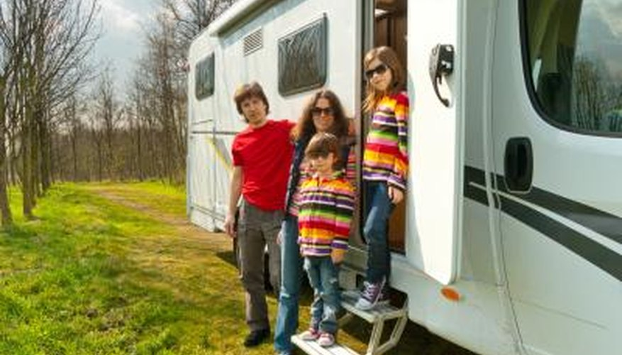 RVs have become popular ways for families to take vacations.