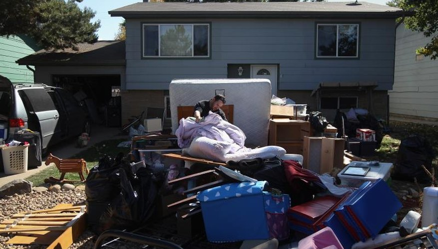 Belongings outside after eviction from home
