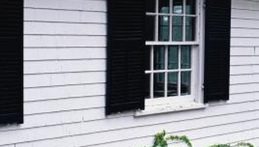 Modern shutters are more decorative than functional.