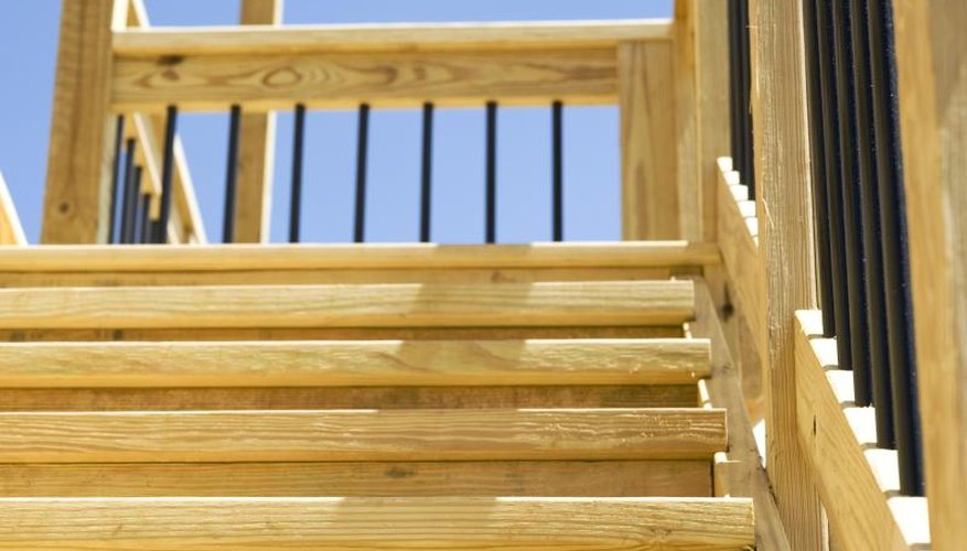 Stairs leading up to a deck.