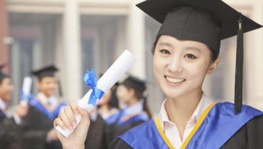 University graduate holding degree