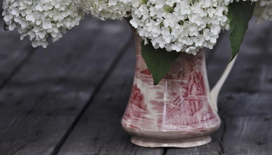 Bouquet in antique vase