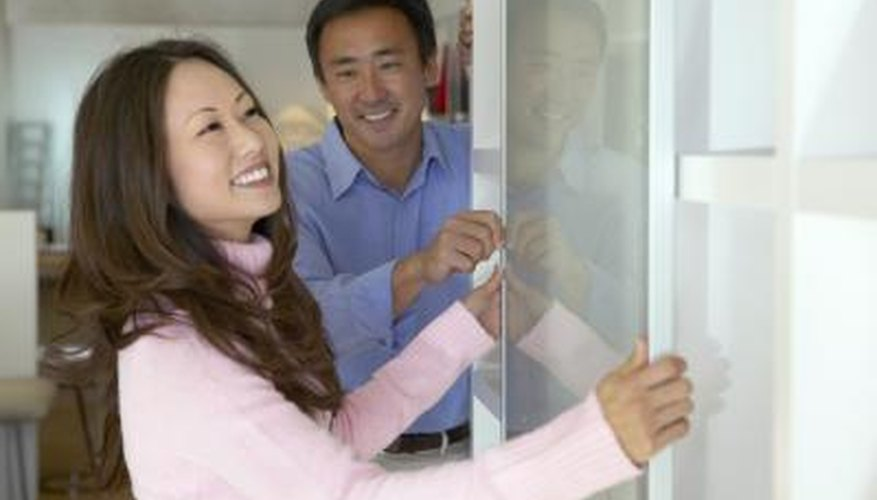 It's easy to replace ball bearings on a sliding closet door.
