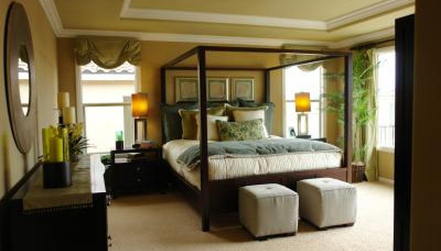 Tie bedroom furniture together by choosing pieces with the same color tones and finishes.