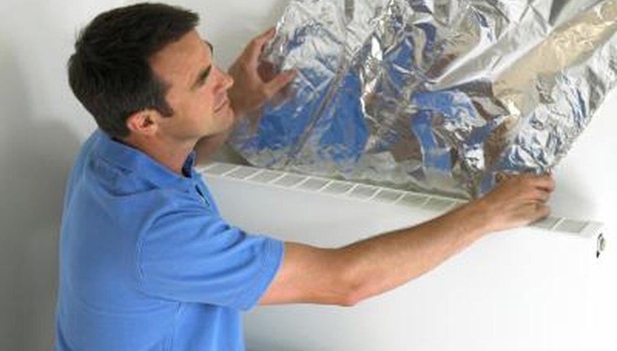 Kitchen foil is not as effective as radiant barrier foil designed for energy efficiency.