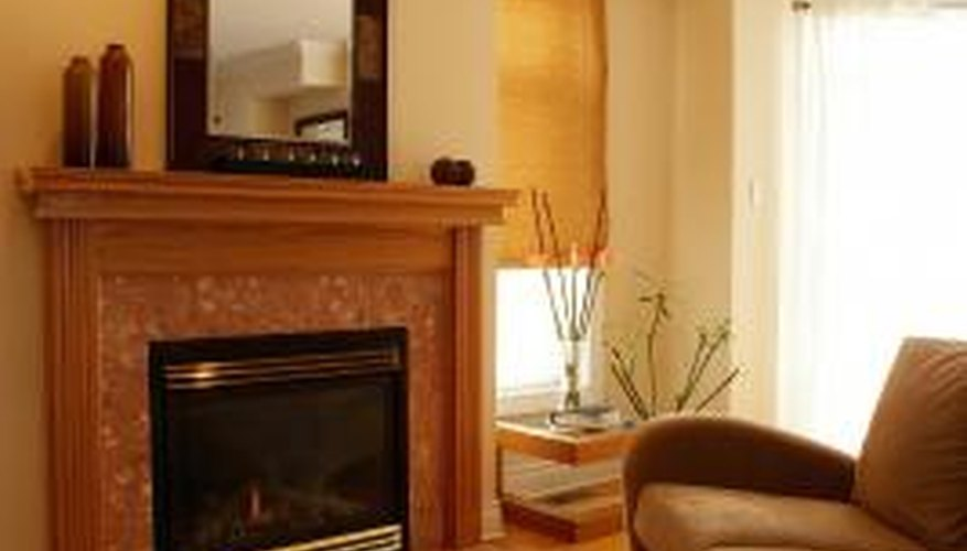 Wood mantel covers provide an easy facelift for your fireplace.